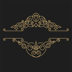 Vintage vector monogram. Elegant emblem logo for restaurants, hotels, bars and…