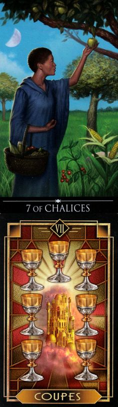 Seven of Cups: others offer disaster and temptation can draw you to ruin (reverse). Silver Witchcraft Tarot deck and Decoratif Tarot deck: love tarot reading, tarot78 doors and tarotin wonderland. Best 2017 fortune telling diy and halloween costumes.