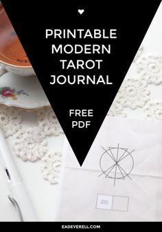 This is SO cool: Free Printable Tarot Journal.  #tarot
