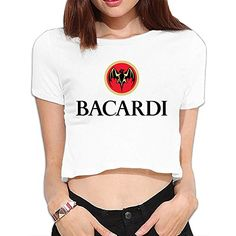 TLK Custom Women Bacardi Logo Crop Top ** Find out more about the great product at the image link. (This is an affiliate link and I receive a commission for the sales)