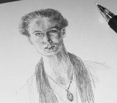 Закончил сегодня на ней. #drawing #illustration #portrait #sketch #pencil #sketchbook #art #artwork #painting #eskiz #портрет #рисунок #карандаш #набросок #эскиз