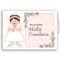 A cute card for a #flower #girl or a #holy #communion. Text can be changed for either occasion.