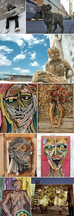 Nick Georgiou: Book & NewspaperSculptures