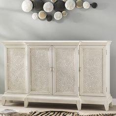 bonita swirl console 4 door accent cabinet
