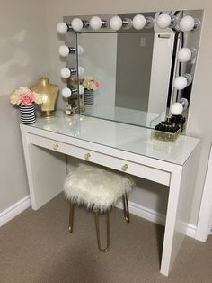 Vanity mirror with desk lights home remedydiy pinterest vanity mirror with desk lights aloadofball Choice Image