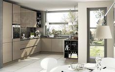 Cocina moderna / de madera / lacada / brillante S3 SIEMATIC