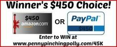 Contest: $450 PayPal Cash or Amazon Gift Card