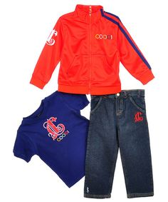 """Coogi """"Scrolled C"""" 3-Piece Outfit (Sizes 2T – 4T) - CookiesKids.com"""