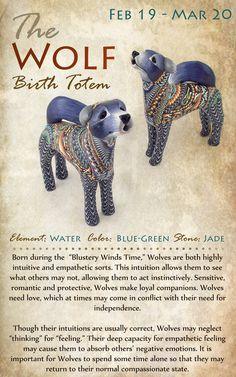 Kokopelli NH | The WOLF Birth Totem | February 19 - March 20