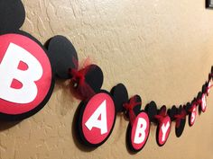 Mickey Mouse Disney Baby Shower Party Banner on Etsy, $18.86 AUD