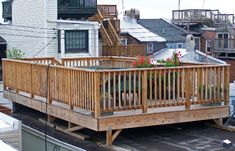 Roof top decks, clever use of small spaces.