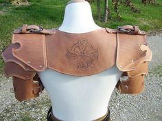 Leather spaulders and gorget by VampsFire on DeviantArt