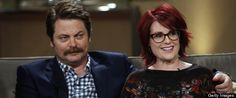 Nick Offerman Talks Costarring With Wife Megan Mullally