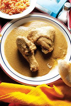 Pollo en Pipian (Chicken with Pumpkin Seed Mole)