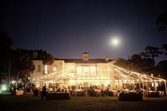 Powel Crosley Estate --- I like the open tent idea. Can hang lighting but not obstruct view of sky/outdoors.