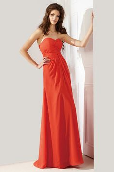 Sweetheart Pleated Floor Length Fashione Bridesmaid Dress