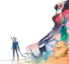 Dreamworks - Rise of the Guardians - Front cover artwork for the film's Visual Development