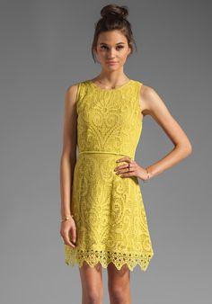 SHAKUHACHI Noveau Crochet Flip Party Dress in Citrus at Revolve Clothing, $280
