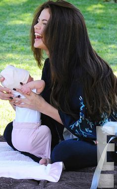 from Selena Gomez and Baby Sister Gracie Elliot: First Look! Selena Gomez Fotos, Selena Gomez Pictures, Parents Images, Animated Love Images, Marie Gomez, Toddler Girl Outfits, Mothers Love, Beauty Queens, Baby Pictures