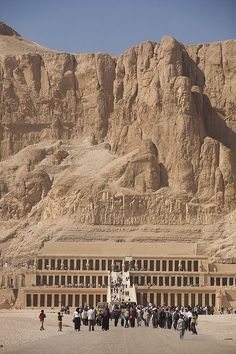 Ancient Thebes with its Necropolis including Hatshepsut's Temple on the west bank of the Nile River - Deir el-Bahri, Egypt
