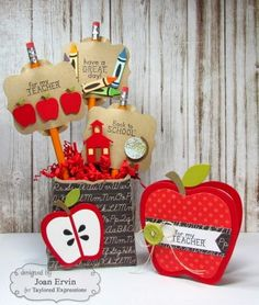 card apple, apples, Apple Stacklets TE Taylored Expressions, Stamping with a Passion!: Taylored Expressions August Sneak Peeks: Pencil Toppers and Talk Nerdy To Me Teacher Appreciation Gifts, Teacher Gifts, Fall Paper Crafts, Teacher Cards, Pencil Toppers, Educational Crafts, School Gifts, Card Making Inspiration, Scrapbooking