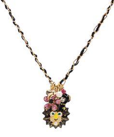 Betsey Johnson - Lion Charm Pendant Necklace