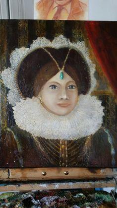 """""""La boudeuse"""" réalisation dans le style 16/17 ème siècle."""