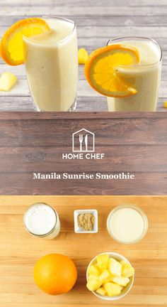If you're lamenting that jacket season is again upon us, take a sip of this pineapple and orange smoothie and you'll practically feel the sun warming your face. At first it will just taste like the best (virgin, sorry) piña colada you've ever had, and then the ginger drops the boom. The sweet heat will make you feel like your feet are dangling in the water even when the leaves are falling.