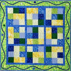 I'm so glad to hear there are a lot of new quilters out there! Quilters like nothing more than sharing their obsession with others :) During the Sew, Mama, Sew Giveaway several people a… Quilted Table Toppers, Easy Quilts, Kid Quilts, Panel Quilts, Quilting Projects, Quilt Patterns, My Design, Arts And Crafts, Blanket