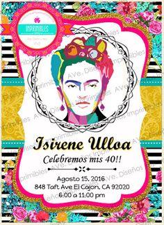 Frida Kahlo Invitaciones para cumpleaños Frida Kahlo