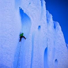 """Ice season is winding down so here's a throwback to one of the finest pitches imaginable."" Paul McSorley and Desiger Tony Richardson with Chris Brazeau climbing  at Cerro torre, Patagonia"