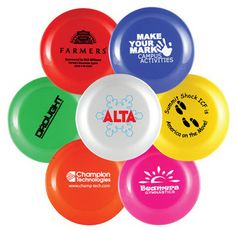 """Become the life of the party when you distribute this mini flying disc! Proudly made in the U.S.A., this bio degradable product is perfect for corporate picnics and school fundraisers alike! Measuring 9.25"""", this flying disc is the ideal want to get your logo or message to your most valued clients. With a variety of colors to choose from you have the ability to customize a disc that matches the unique needs of your special event!"""