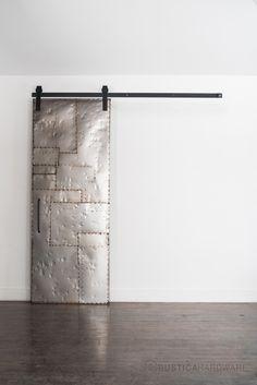 Salvaged Scrap Metal ™ Door | Rustica Hardware