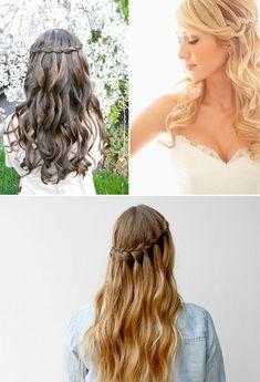 Trecce per la sposa Crown Hairstyles, Bride Hairstyles, Pretty Hairstyles, Braided Ponytail, How To Make Hair, Bridesmaid Hair, Hair Videos, Hair Inspo, Bridal Hair