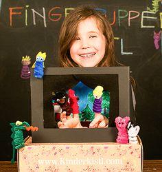 Fingerpuppen-Theater im Kistl! Ist bunt und macht Spaß! Bunt, Wolf, Frame, Diy, Home Decor, Puppet Theatre, Creative, Picture Frame, Decoration Home