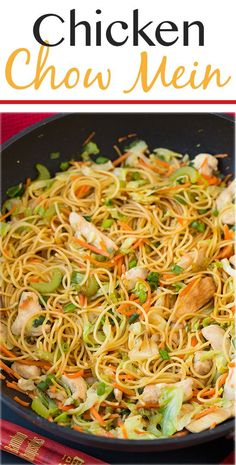 Chicken Chow Mein – this is just as good as any take out and it's so easy to make! My whole family loved it even my picky eaters! Chicken Chow Mein – this is just as good as any take out and it's so easy to make! My whole family loved it even my picky … I Love Food, Good Food, Yummy Food, Tasty, Asian Recipes, Healthy Recipes, Healthy Lunches, Detox Recipes, Rice Recipes