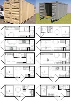 24 Ideas container house plans design layout for Shipping Container Home Designs And Plans - Container . Storage Container Homes, Building A Container Home, Building A Tiny House, Container Design, Tiny House Cabin, Tiny House Plans, House Floor Plans, Container Home Plans, Tiny Home Floor Plans