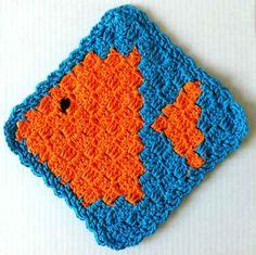 Best Free Crochet » #123 Fish Crochet Dishcloth – Maggie Weldon Maggies Crochet