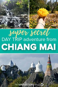 Secret Day Trip Adventure from Chiang Mai Thailand: We had the BEST day motorbiking day trip from Chiang Mai to these floating pagodas on a mountain top. We'll show you exactly how to get there and what to see. Lampang, Thailand Destinations, Thailand Travel Guide, Travel Destinations, Chiang Mai Thailand, Thai Travel, Thailand Adventure, Adventure Travel, Excursion