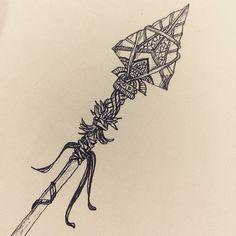 Find your true north. #arrow #ancient #ritual #boho #spirit #wisdom #findyourtruenorth #dessin #graphisme #carnet #graphic #paperandpen #blackandwhite #drawing #sketchbook #connected