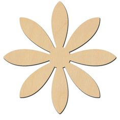 Flower with 8 petals - are the first flowers of spring! This wooden surface is laser cut from birch plywood and ready to paint. Measures 2 across petal tip to petal tip. Paper Flower Patterns, Wood Craft Patterns, Wooden Pattern, Felt Patterns, Wooden Flowers, Giant Paper Flowers, Felt Flowers, Fabric Flowers, Leaf Template