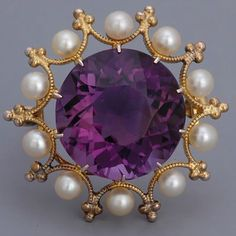 cool Antique Jewelry Victorian Amethyst Brooch...