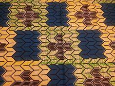 0 5 Yard Beautiful Design Blue Yellow Green 100 Cotton African Superwax Print | eBay