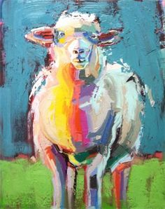 i like the colors of this sheep, because it provides more of a personal interpritation for each character