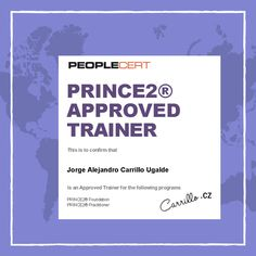 Approved #PRINCE2 trainer!! hurraaa