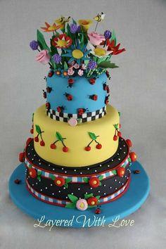 Mary Engelbreit Wedding Cake ~ Great work!