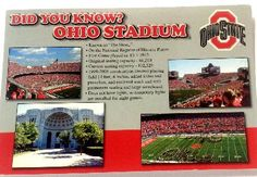 DID YOU KNOW? FACTS ABOUT OSU STADIUM POSTCARD