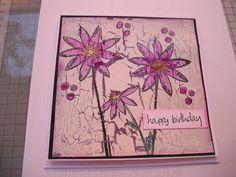 Background crackled.  Paper Artsy stamps