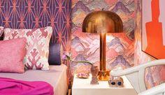 pink, orange and purple = bedroom bliss