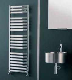 Radiador toallero  Modelo Vela cromado de Irsap.